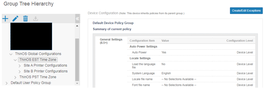 Device policy