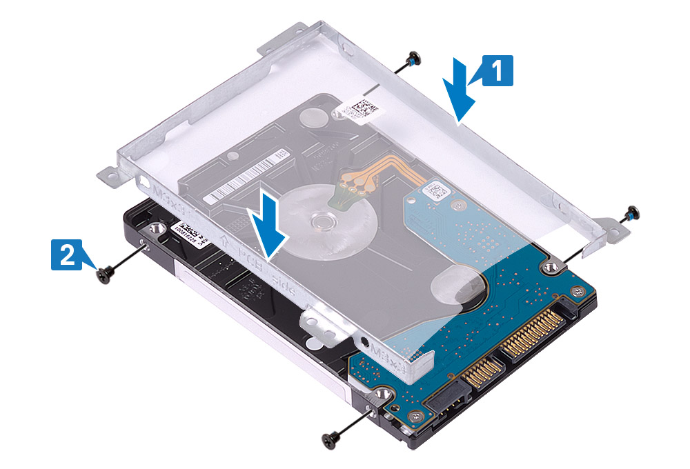 Image: Replacing the hard drive bracket