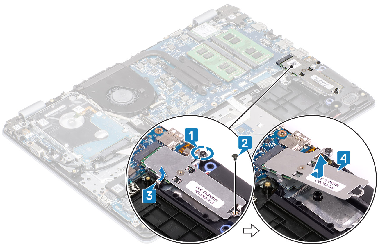Image: Removing the solid-state drive thermal plate