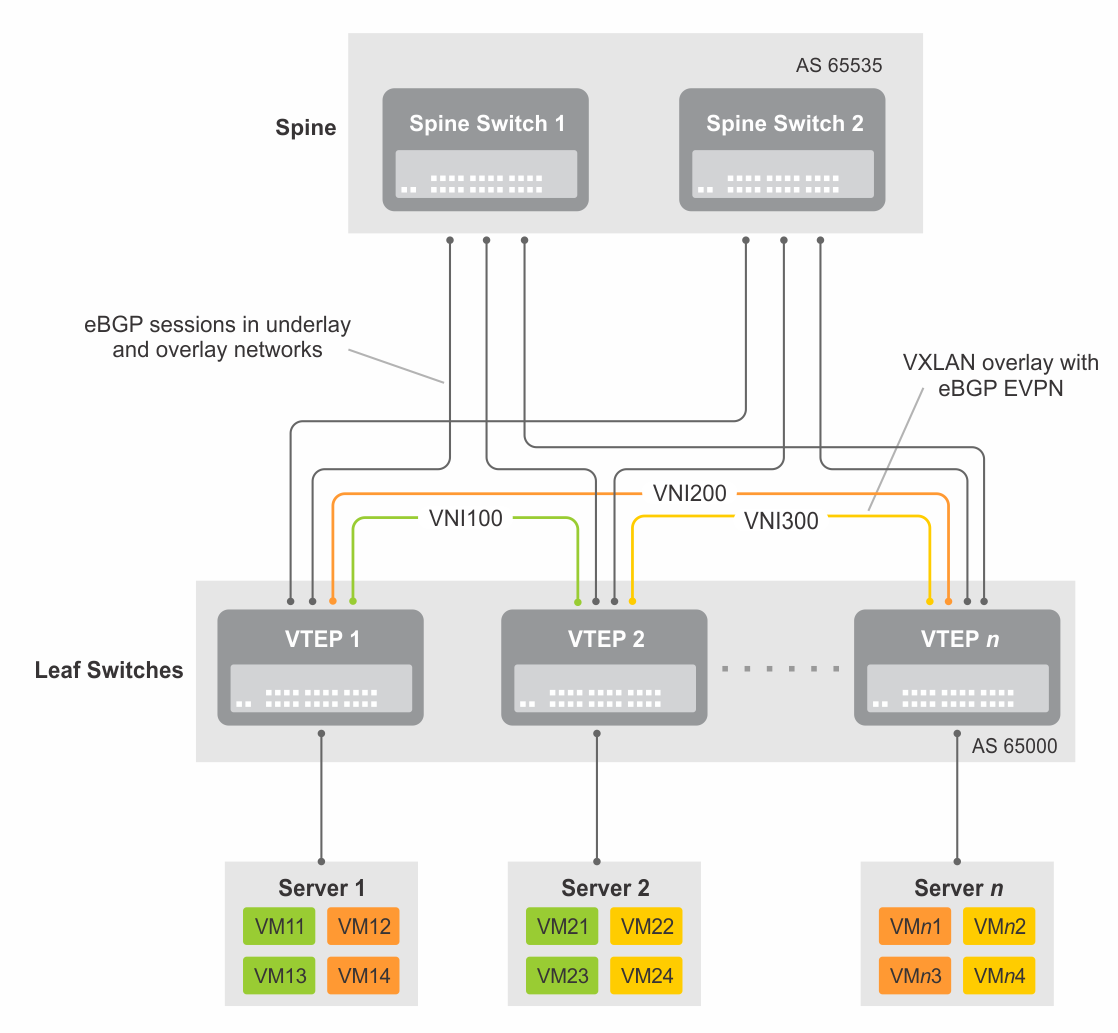 VXLAN and BGP EVPN Configuration Guide for Dell EMC