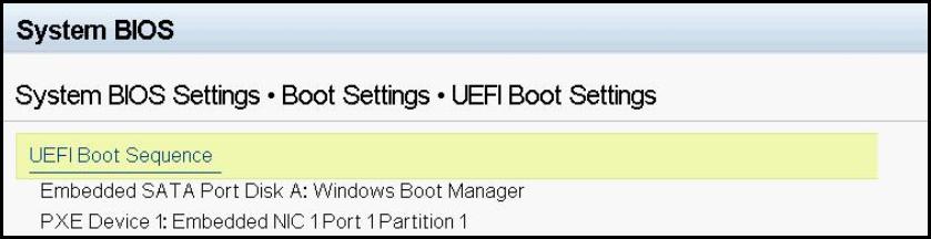 UEFI Boot settings