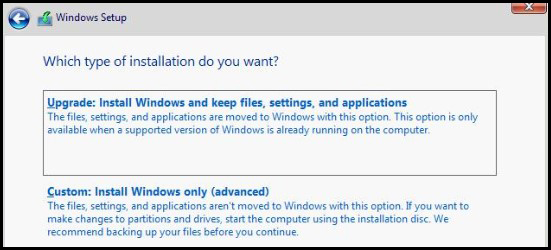Which type of installation do you want