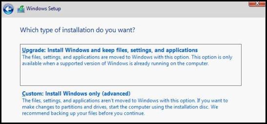 설치 유형을 선택하십시오.