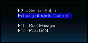 Entering Lifecycle Controller